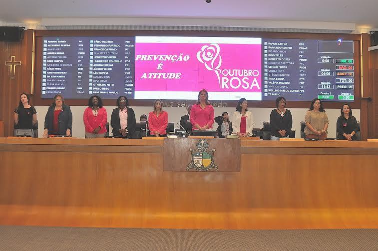 """Assembleia Legislativa realiza sessão especial em homenagem ao """"Outubro Rosa"""""""