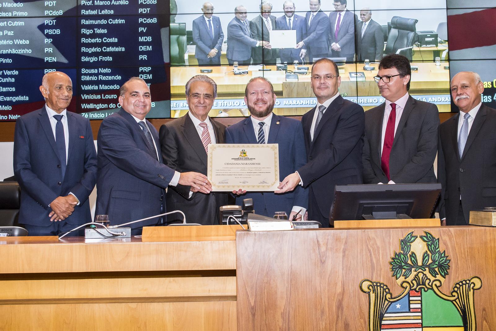 """Assembleia Legislativa concede título  de """"Cidadão Maranhense"""" ao presidente da CNI"""
