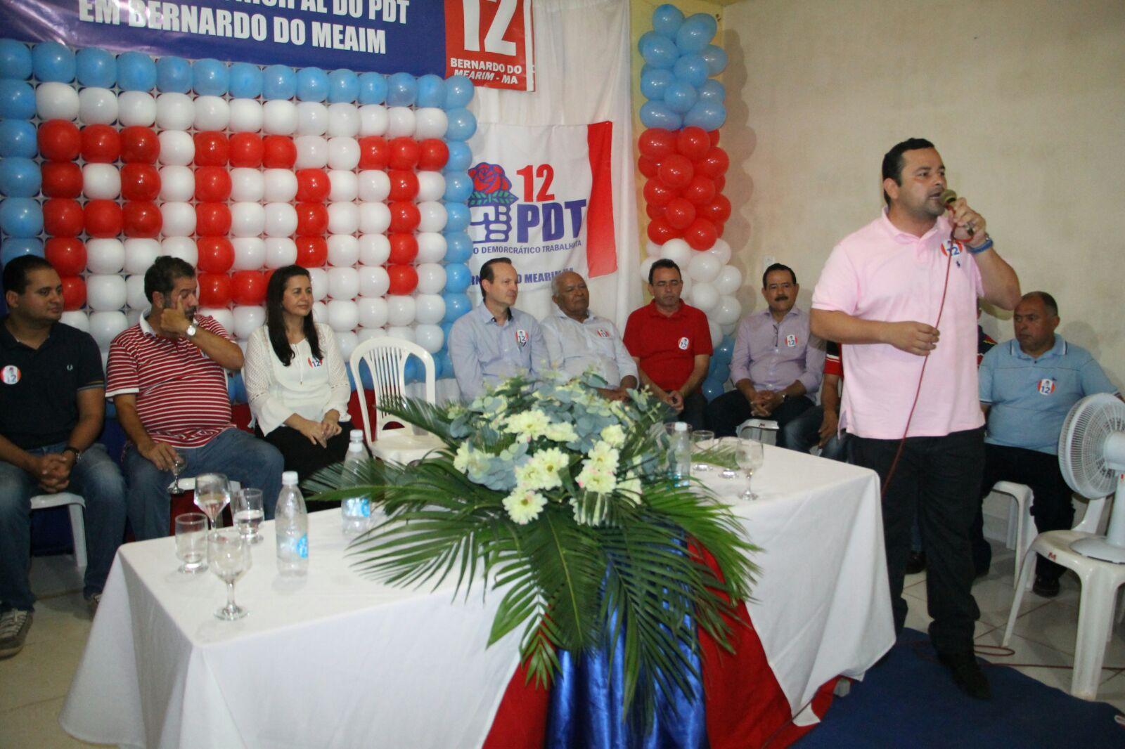 Vinicius Louro prestigia encontro do PDT em Bernardo do Mearim