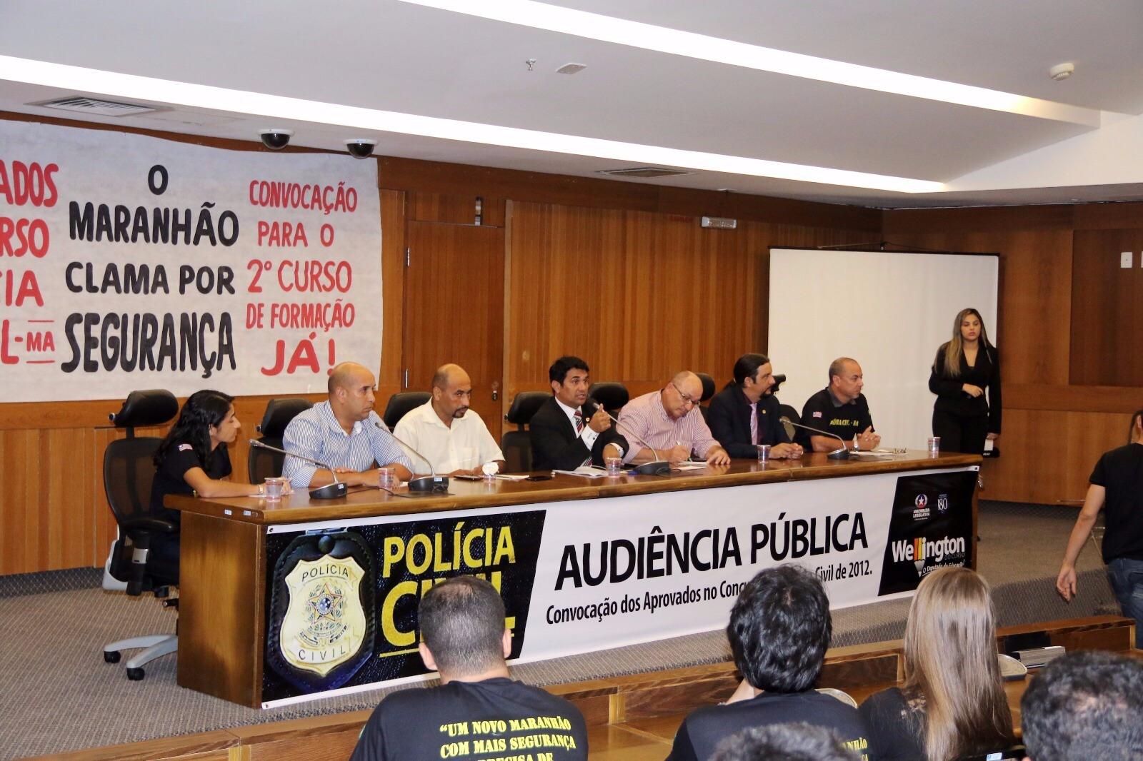 Wellington realiza Audiência Pública em defesa dos aprovados da Polícia Civil