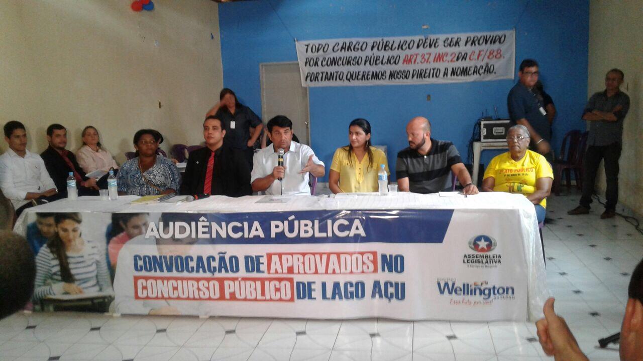 Wellington do Curso participa de audiência pública com aprovados no concurso de Lago Açú