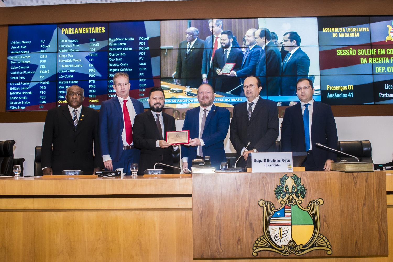 Assembleia Legislativa realiza sessão solene em homenagem aos 50 anos da Receita Federal do Brasil