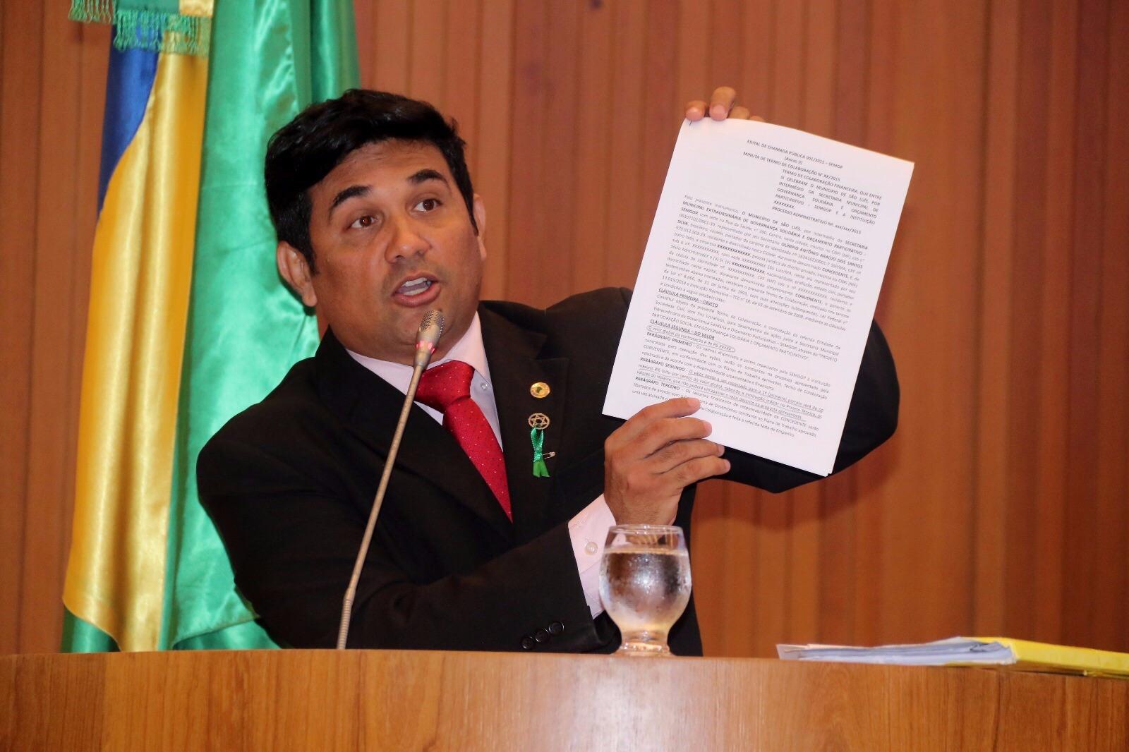 Wellington volta a cobrar esclarecimentos sobre contrato da Prefeitura de São Luís