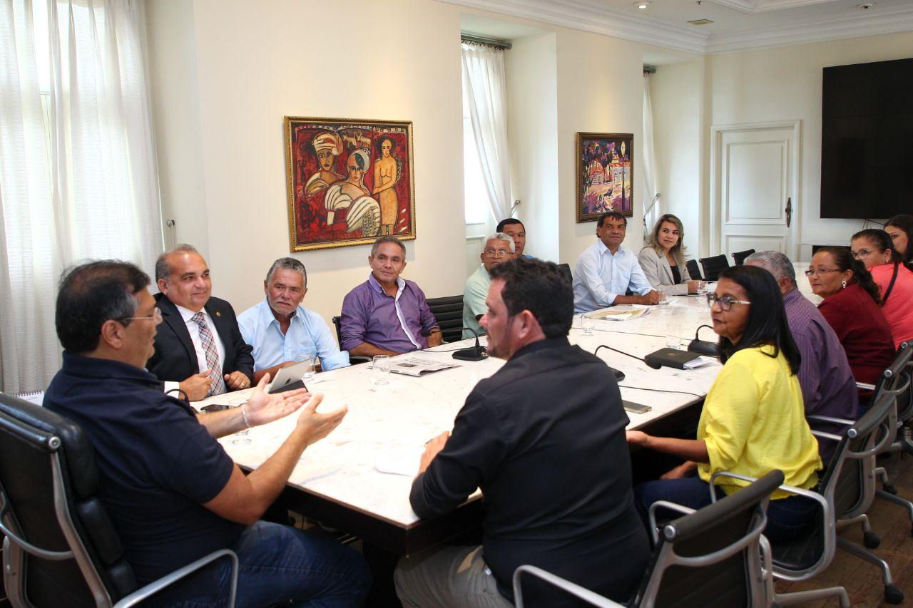 Fábio Braga, prefeito Rodrigues da Iara e vereadores dialogam com o Governador sobre ações para Nina Rodrigues