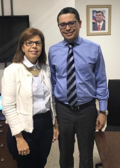 Deputada Helena Duailibe reúne-se com secretário de Estado da Saúde