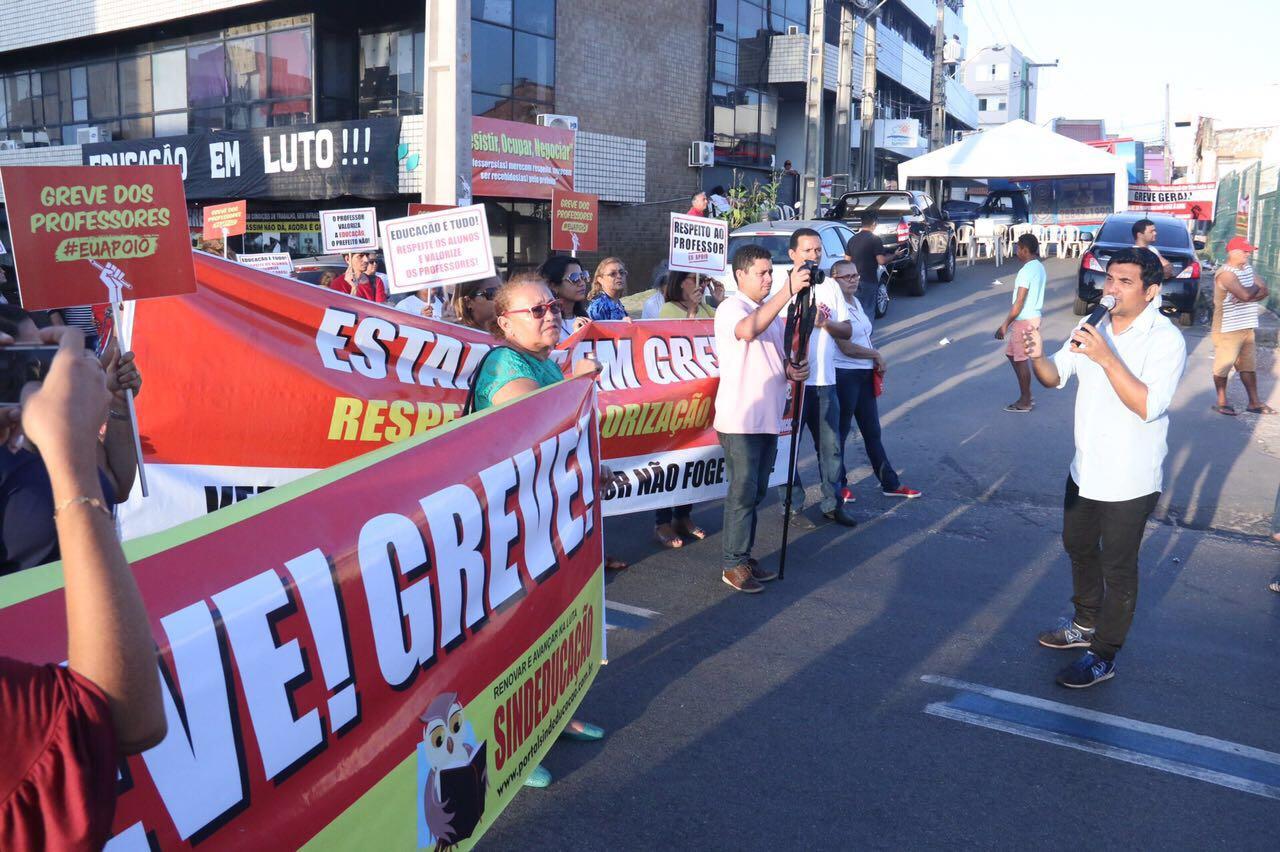 Wellington fala da greve dos professores e afirma que prefeito desrespeita a Educação