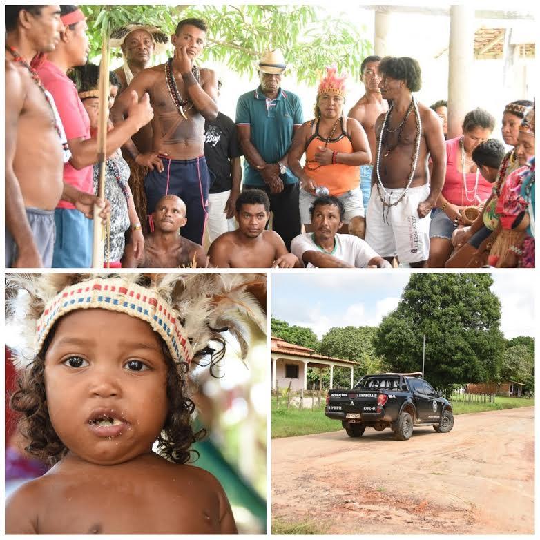 O menino Akrutxu, de 1 ano e 5 meses, primeira criança gamela registrada em cartório. Na aldeia, as lideranças fazem constantes reuniões, enquanto a  polícia mantém a vigilância na área