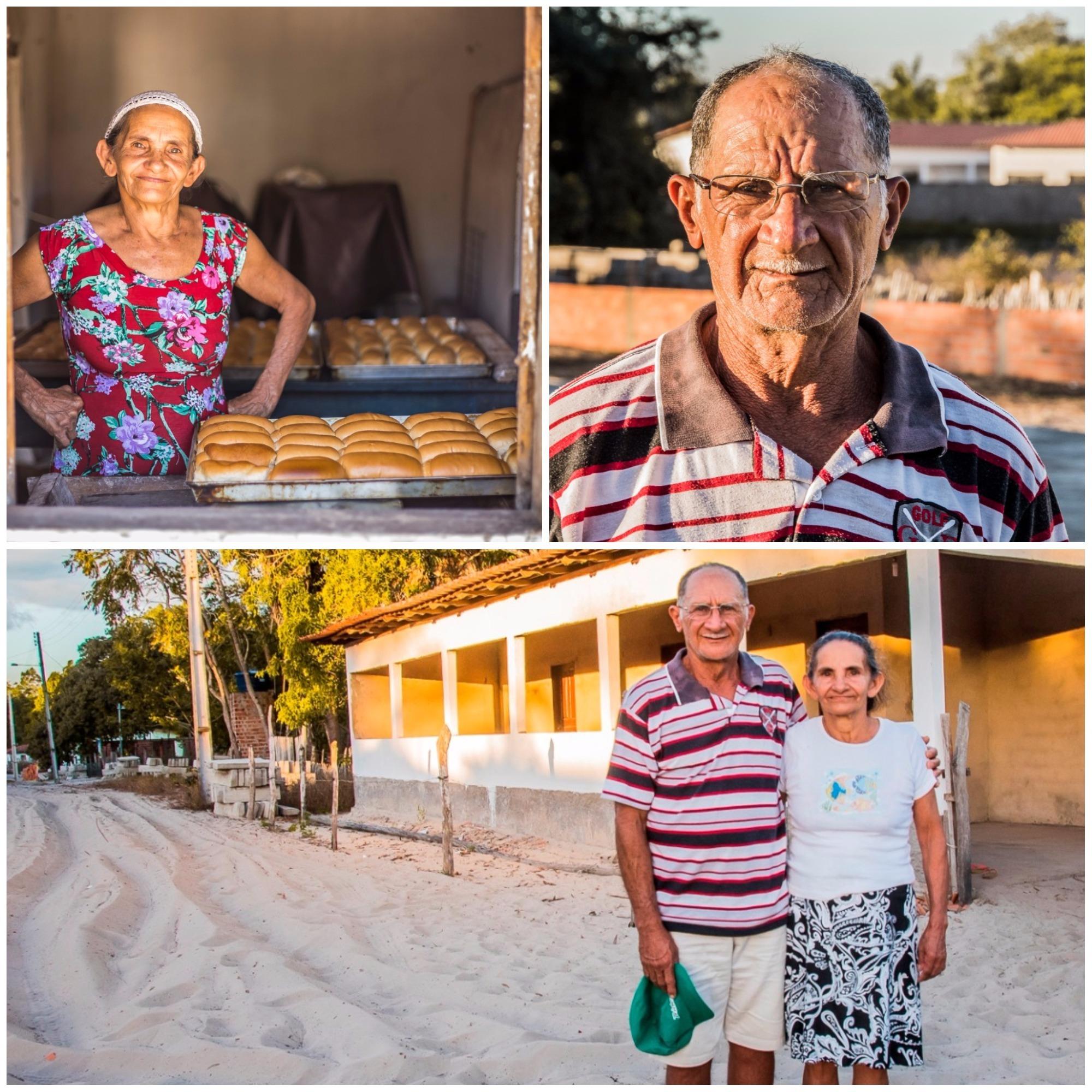 Dona Rosa e seu José, donos da única padaria e da única casa para alugar do Cassó