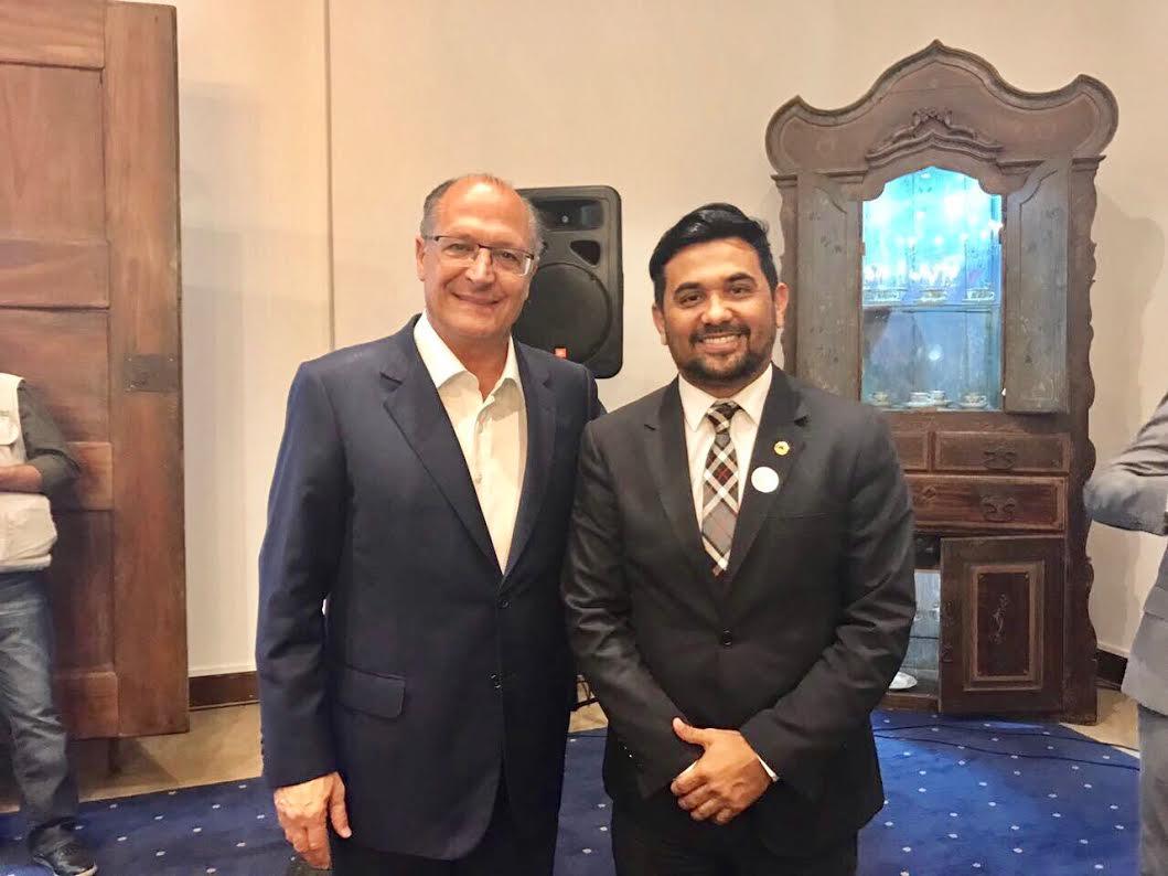 Wellington se reúne com o governador de São Paulo sobre o Pacto Federativo