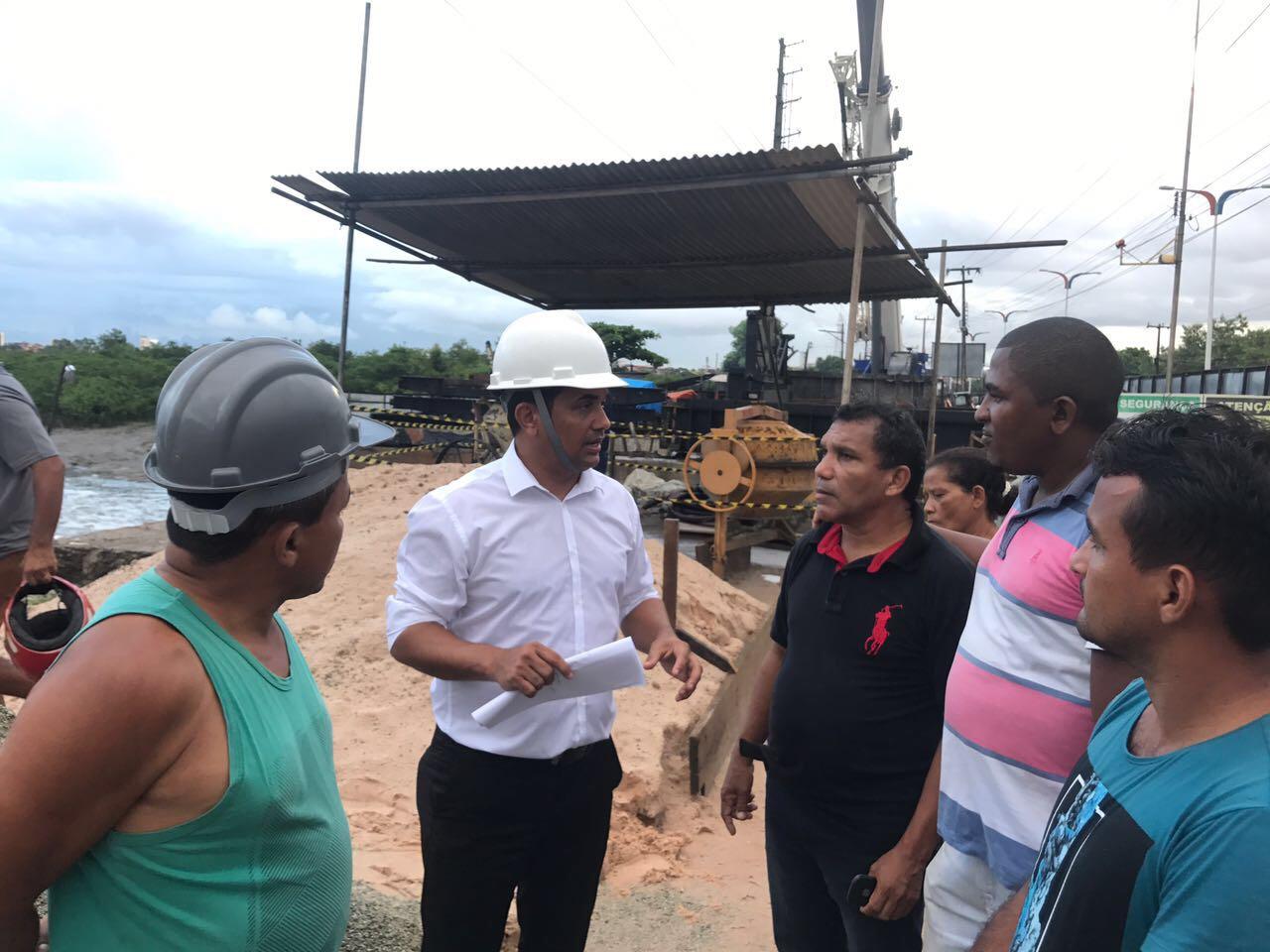 Wellington fiscalizará Estação de Tratamento de Esgoto de São Luís