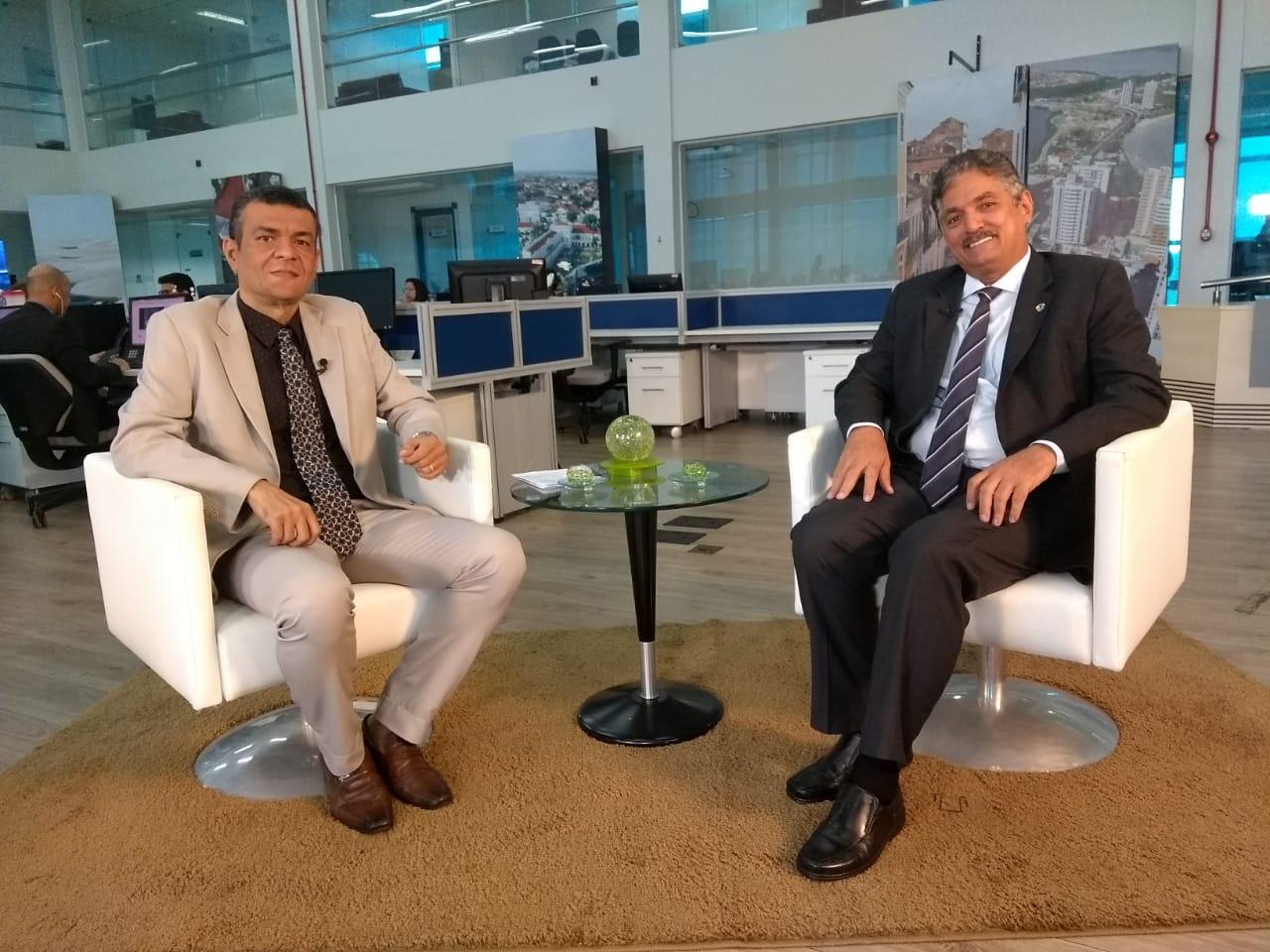 """Carlinhos Florêncio foi o convidado do """"Sala de Entrevista"""" desta sexta-feira"""