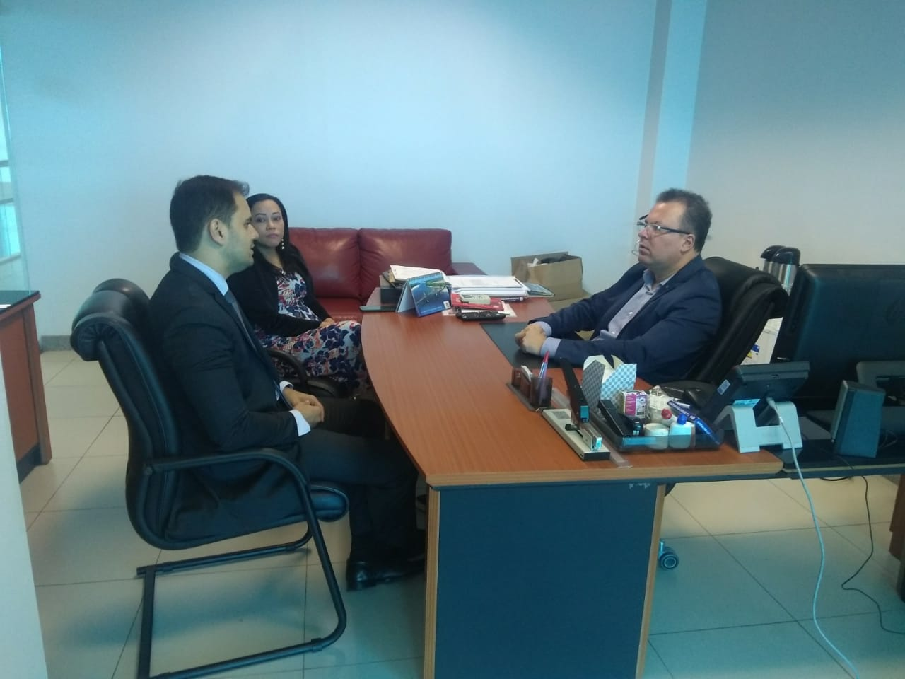 Diretor de Comunicação recebe visita do defensor público-geral e discute parceria