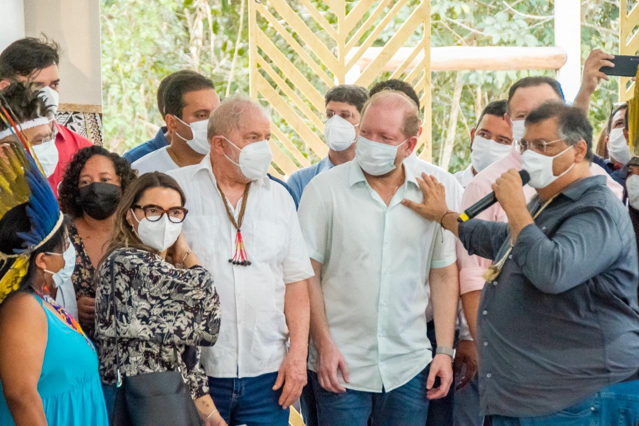 Presidente da Assembleia, Othelino Neto, acompanhou a visita do ex-presidente Lula, ao lado de Flávio Dino, Weverton Rocha e outras autoridades
