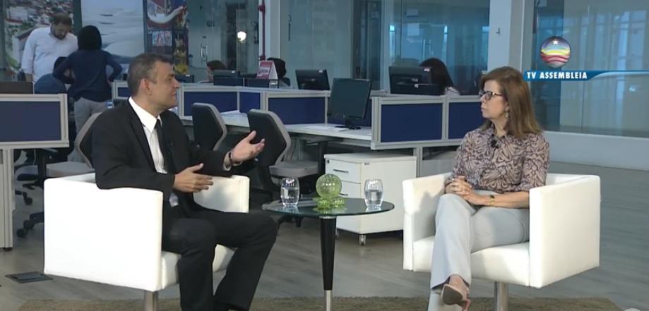 Helena Duailibe destaca ações da Procuradoria da Mulher em entrevista à TV Assembleia