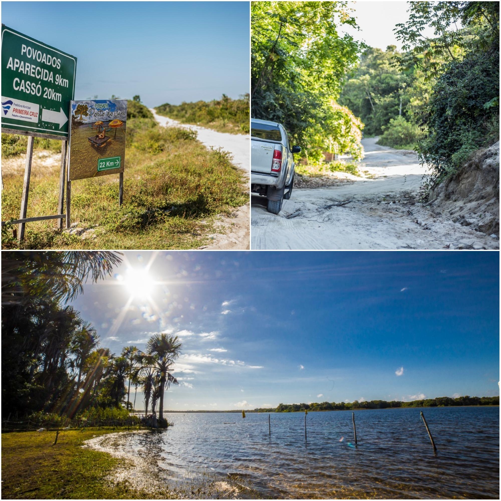 Trechos que dão acesso à Lagoa do Cassó, um paraíso de água transparente e de natureza quase intocada.