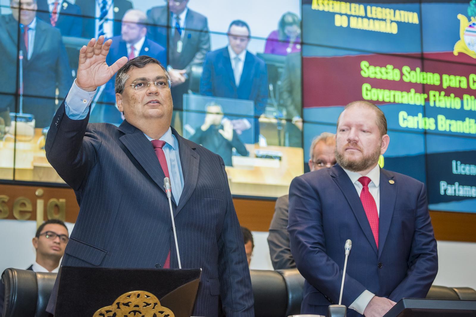 Assembleia empossa Flávio Dino no segundo mandato de governador do Maranhão