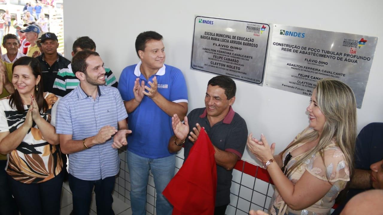 Fernando Pessoa participa da inauguração de escolas dignas em Fernando Falcão.