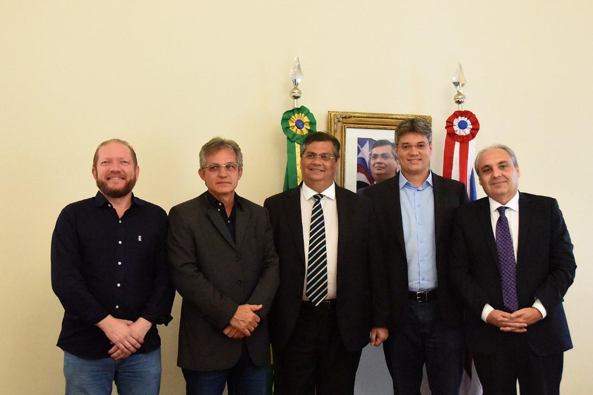 Presidente da Assembleia em exercício e prefeito de Timbiras são recebidos em audiência pelo governador Flávio Dino