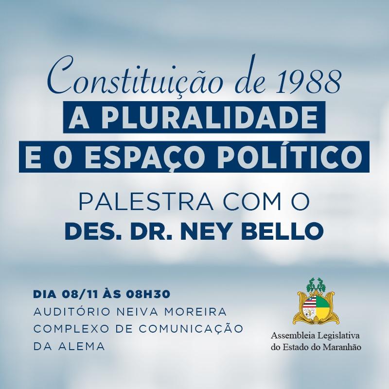 Assembleia promoverá palestra sobre os 30 anos da Constituição de 1988