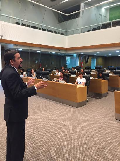 Verde destaca primeira visita do Parlamento Estudantil