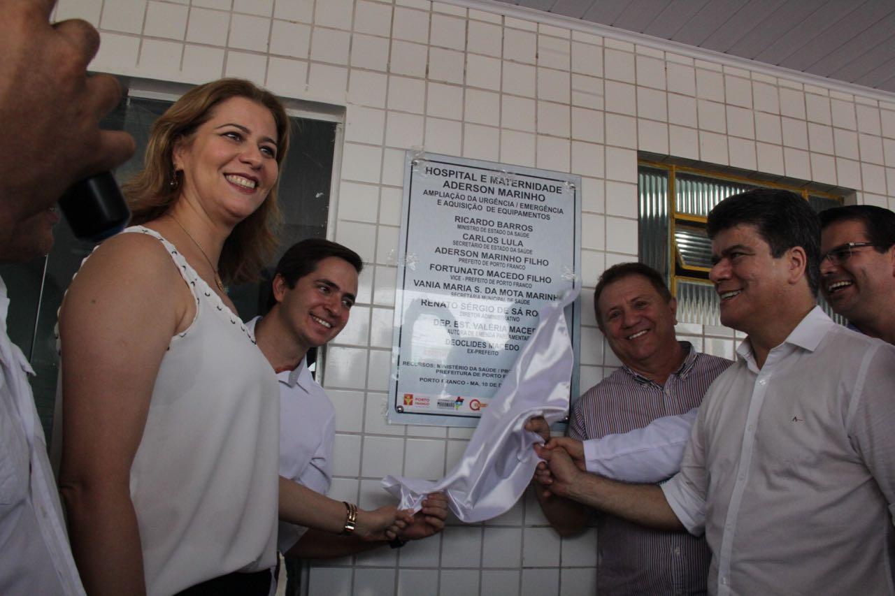 Valéria comemora ampliação do Hospital e Maternidade Aderson Marinho em Porto Franco