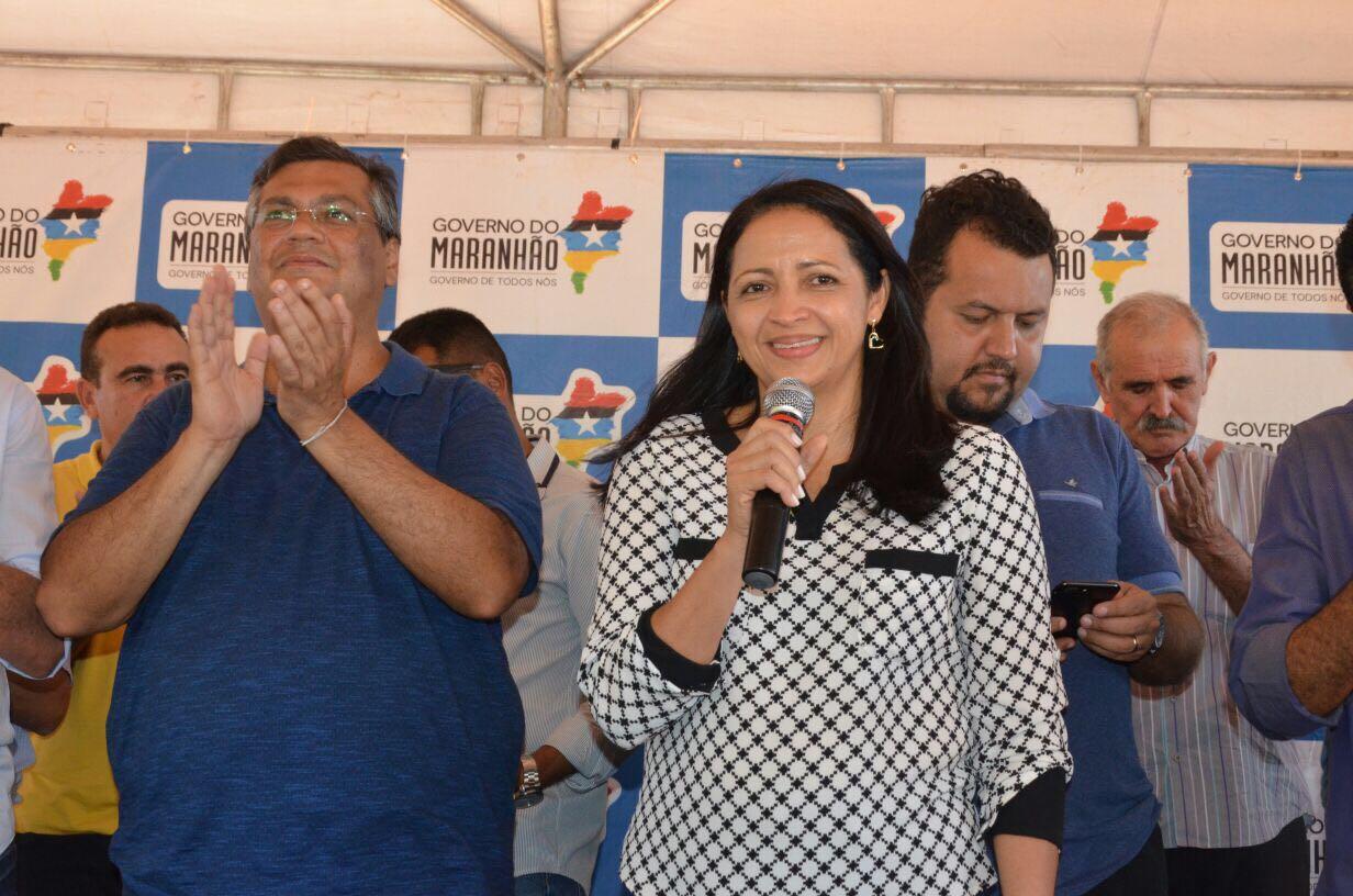 Francisca Primo acompanha Flávio Dino na entrega de ações em  Bom Jesus das Selvas, Santa Luzia e Buriticupu