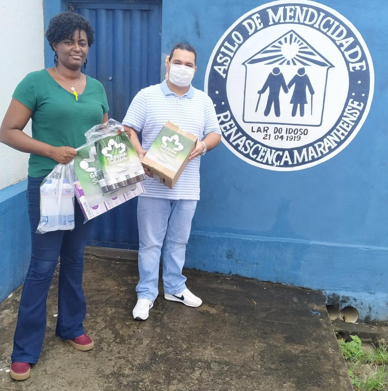 COVID-19: Gedema beneficia asilos com kits de produtos para higienização