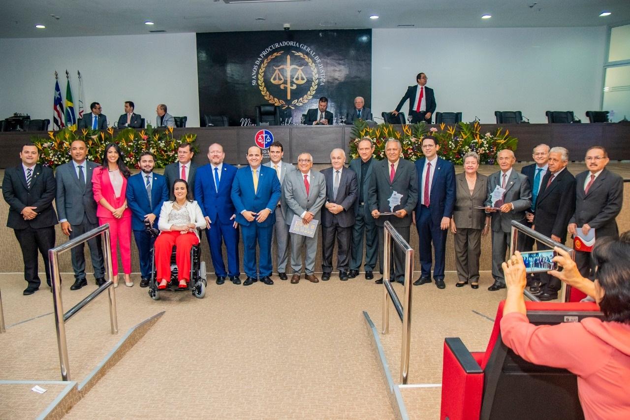 Solenidade em comemoração aos 30 anos de promulgação da Constituição Estadual do Maranhão realizada pelo MP