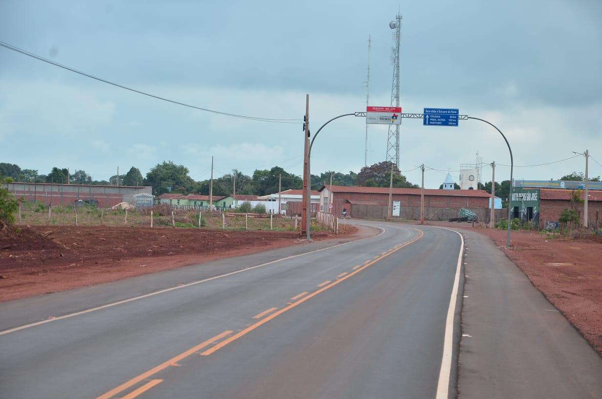 A estrada íntegra um pacote de obras nas áreas de infraestrutura, saúde e cidadania