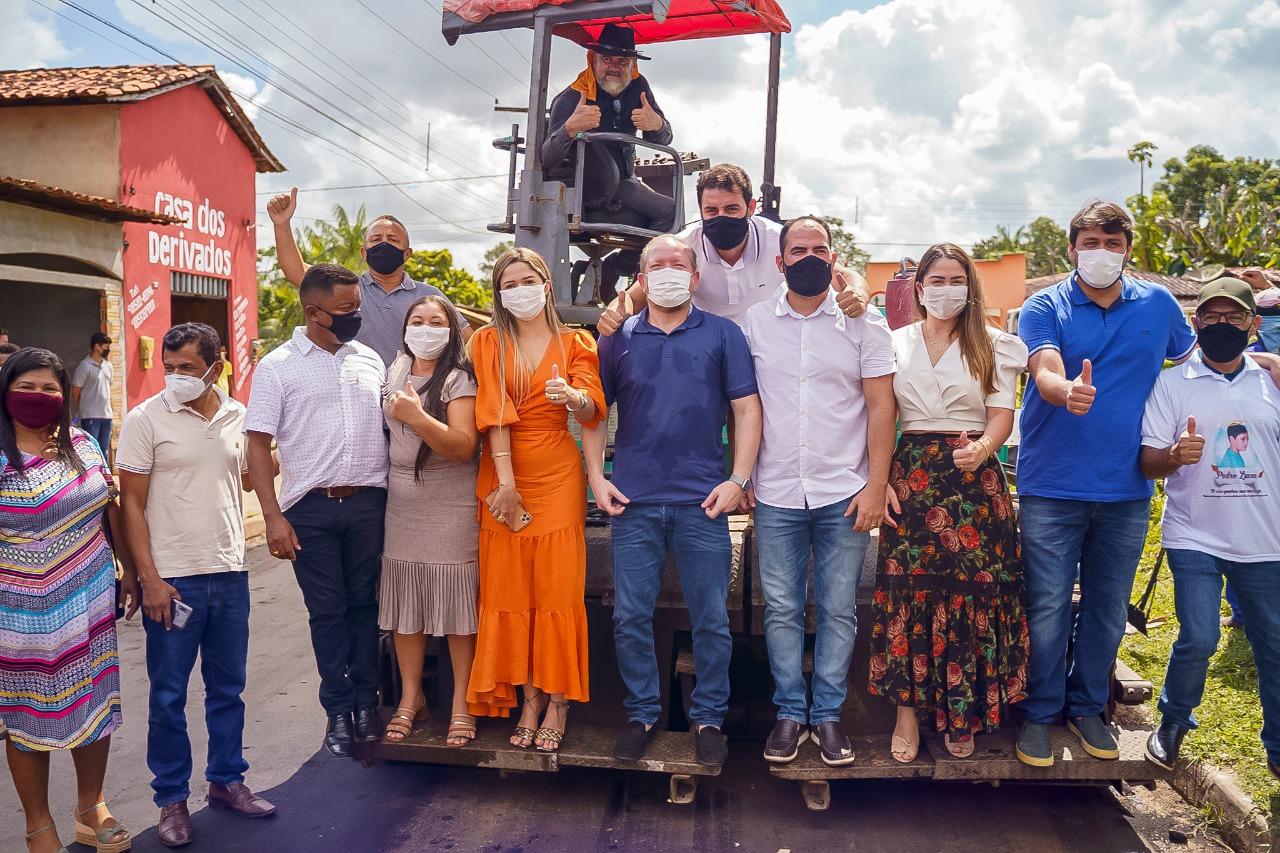 Othelino conferiu o andamento de obras em ruas de Turilândia contempladas pelo programa