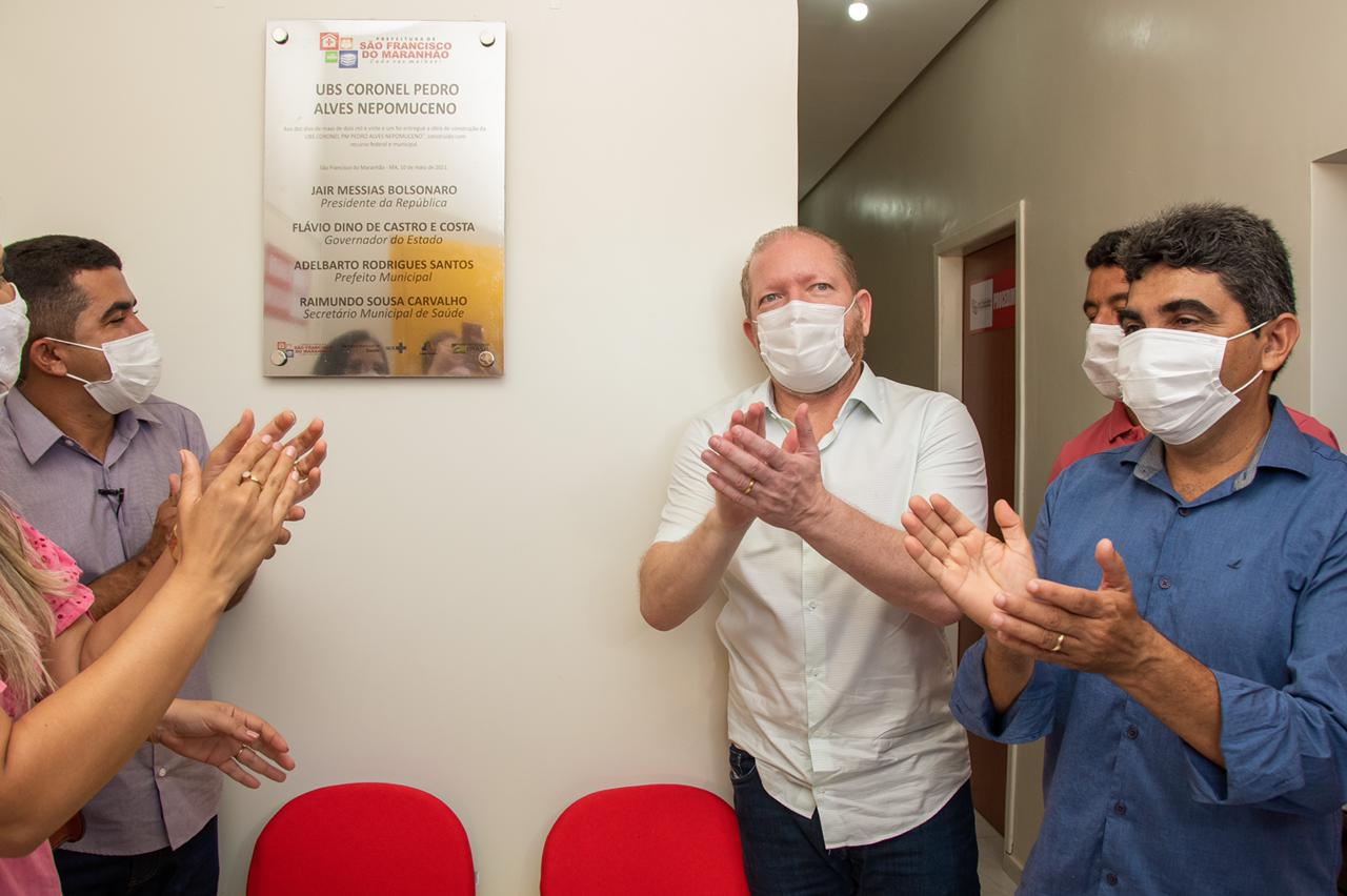 Othelino na inauguração da UBS Cel. Pedro Alves Nepomuceno, que atenderá pacientes com sintomas de Covid-19