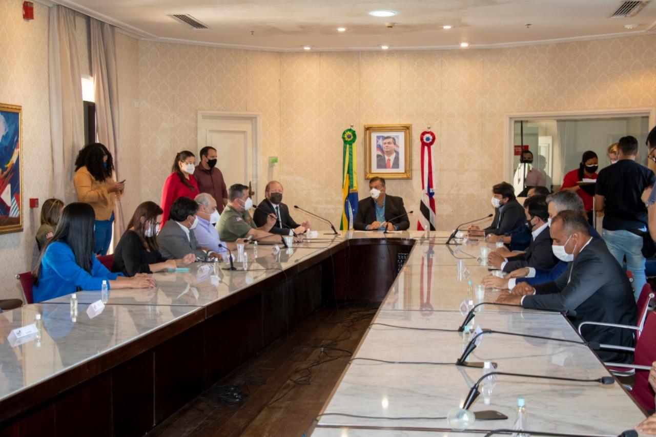 Solenidade de assinatura do acordo de cooperação técnica para doação de bloquetes a municípios maranhenses