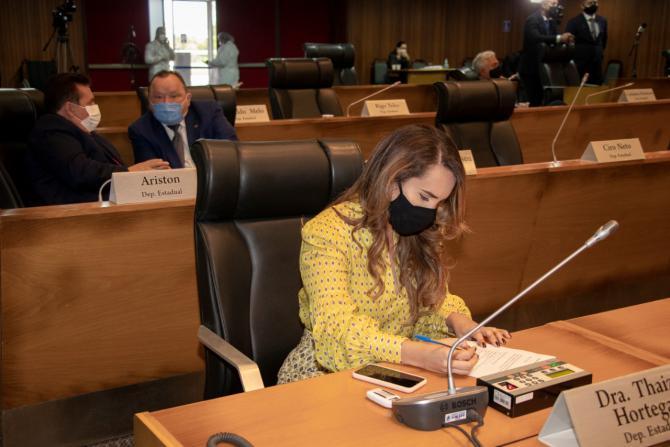 Thaiza Hortegal anuncia emendas a serem empregadas em serviços de infraestrutura em Pinheiro