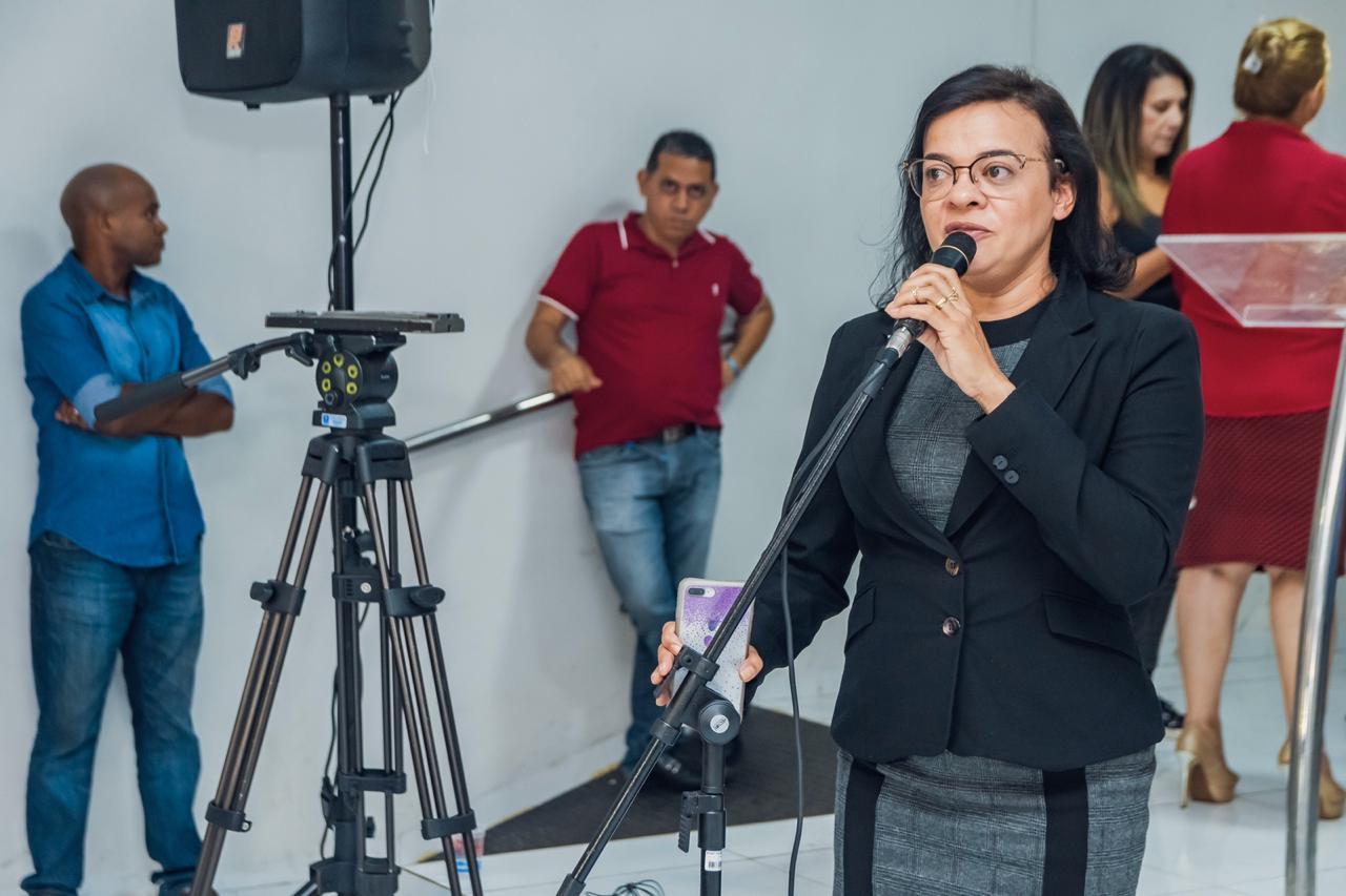Vereadora Regilda Santos, de Bacabal, representando a União de Vereadores e Câmaras do Maranhão, enalteceu o evento