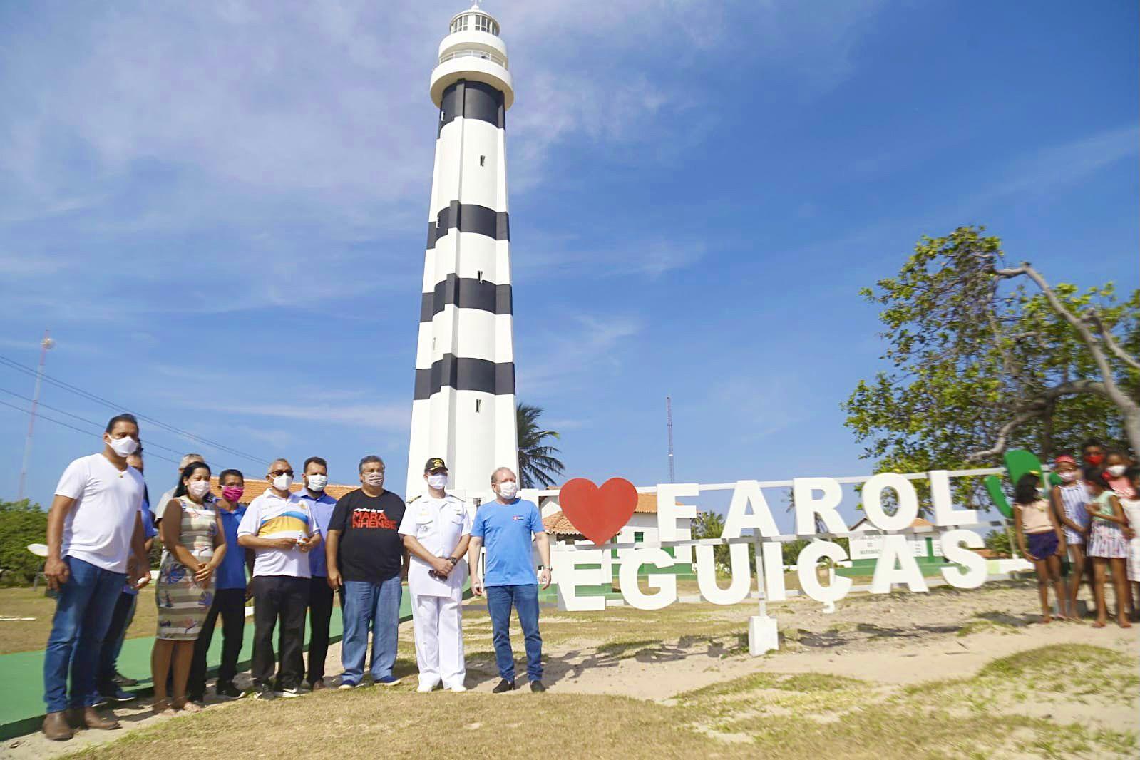 Othelino na reinauguração do Farol Preguiças, no povoado Mandacaru, entregue pelo governador Flávio Dino