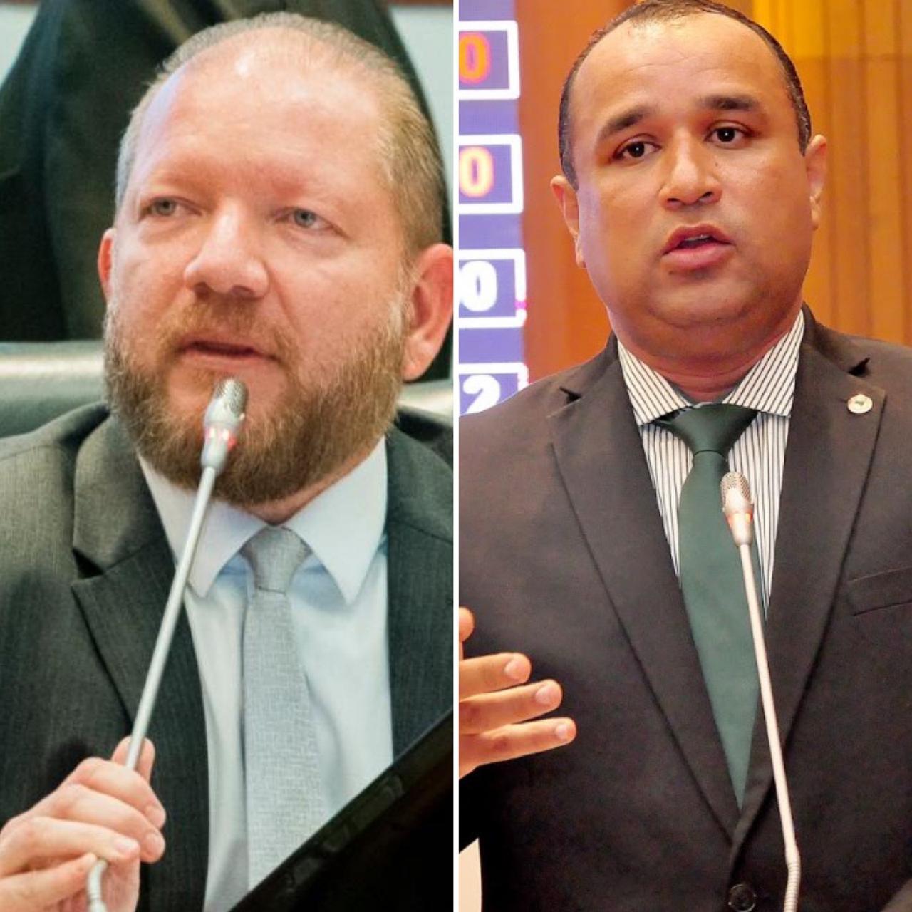 Othelino Neto e Roberto Costa são autores do requerimento solicitando envio de menagem de solidariedade a Alcione