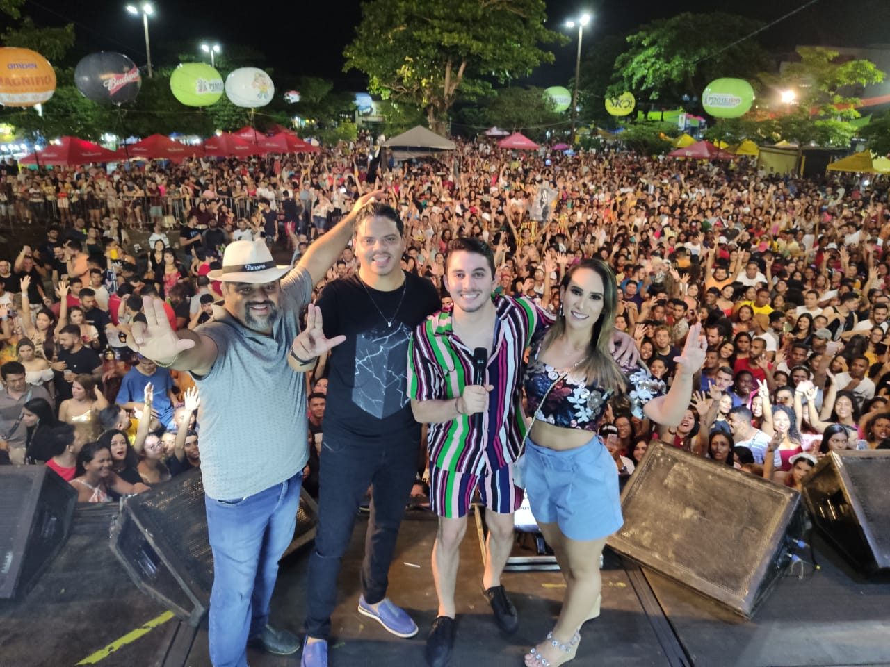 Thaiza Hortegal elogia o Carnaval de Pinheiro