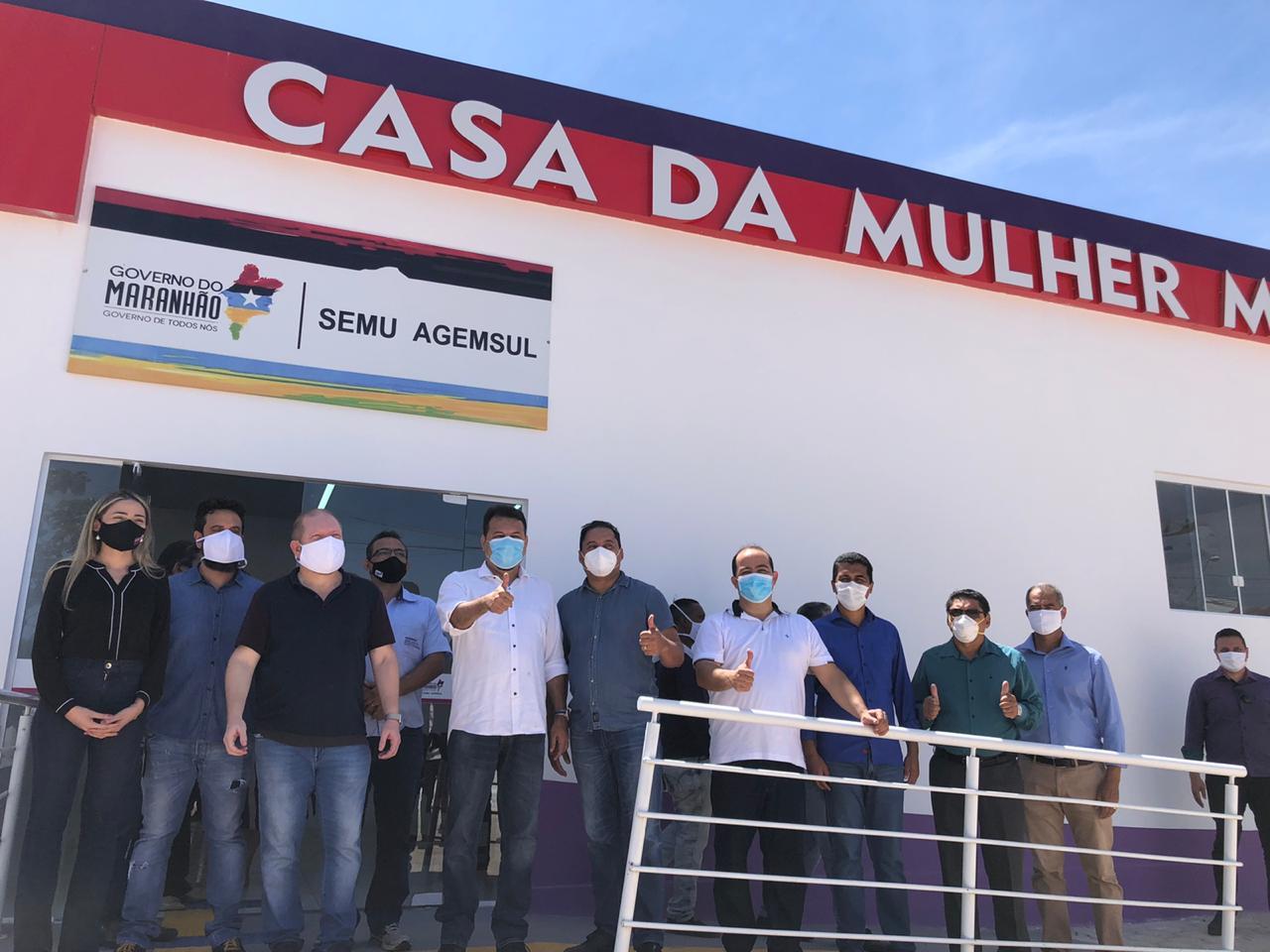 Em Imperatriz, a comitiva também visitou a Casa da Mulher Maranhense, baseada no modelo da Casa da Mulher Brasileira