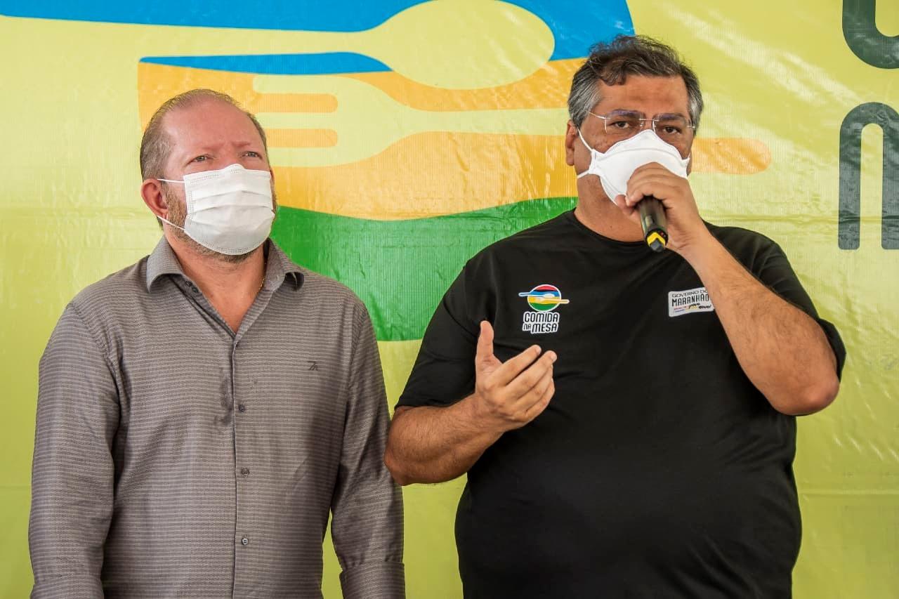 Othelino acompanha discurso de Flávio Dino, que também lançou dois editais do Procaf, destinados aos povos e comunidades tradicionais