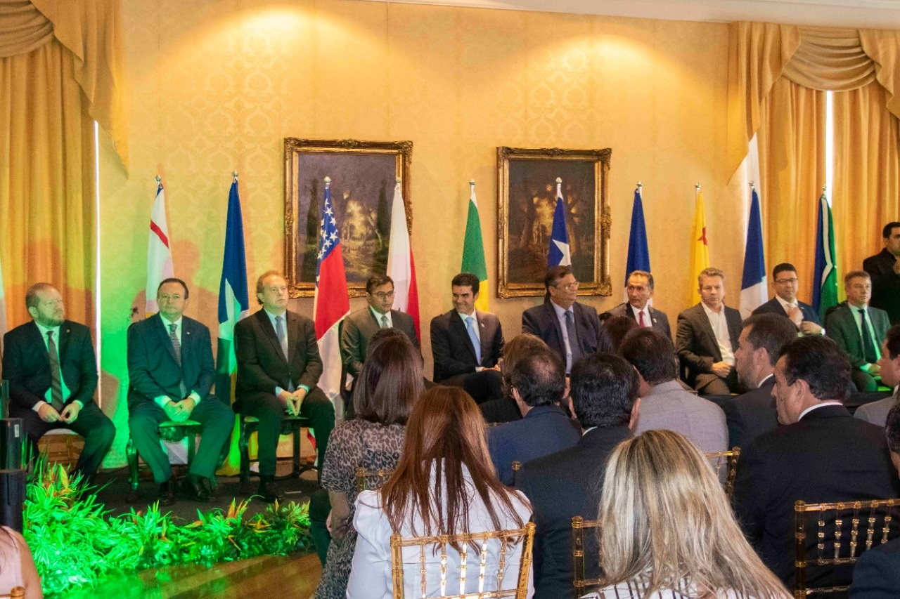 O evento reuniu governadores de oito dos nove estados que compõem a Amazônia Legal, entre eles Flávio Dino