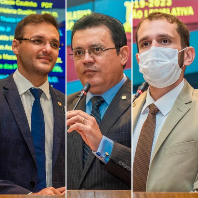 Felipe dos Pneus, Rigo Teles e Fernando Pessoa se despedem da Assembleia para assumir prefeituras municipais