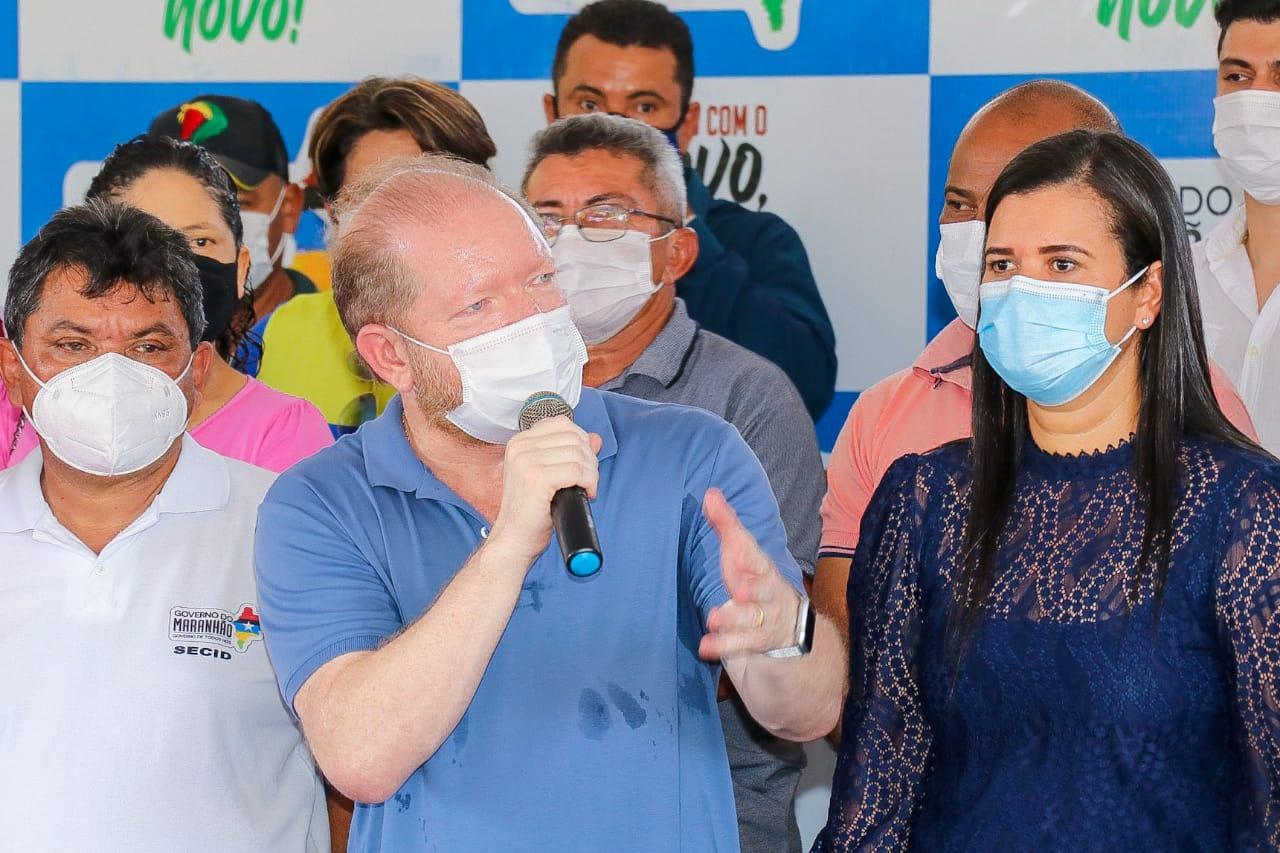 Em Presidente Sarney, Othelino ressaltou que, com apoio do governador, viabilizou diversos benefícios para o município, assim como para Pedro do Rosário