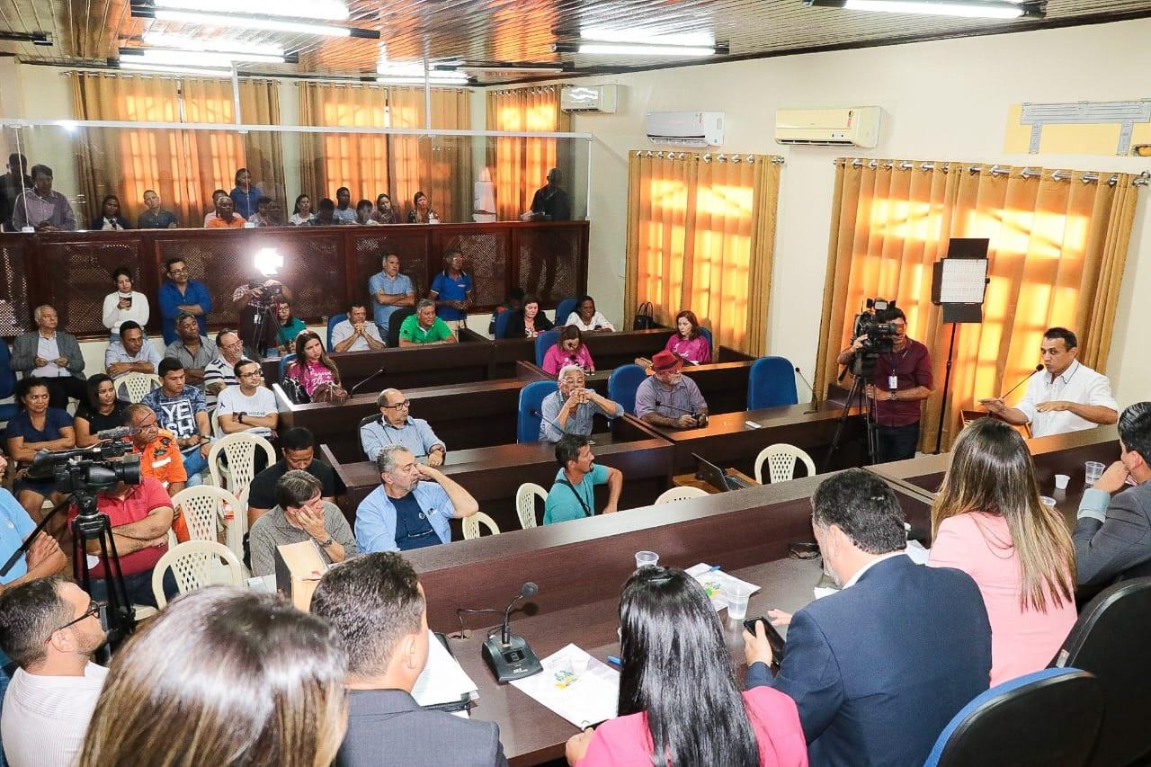 A audiência pública realizada em Pinheiro contou com a presença de representantes da sociedade civil