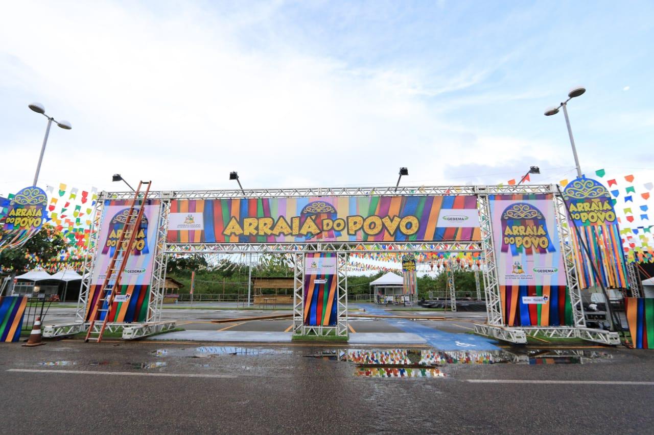 Tudo pronto para abertura do 'Arraiá do Povo' nesta sexta-feira com grandes atrações