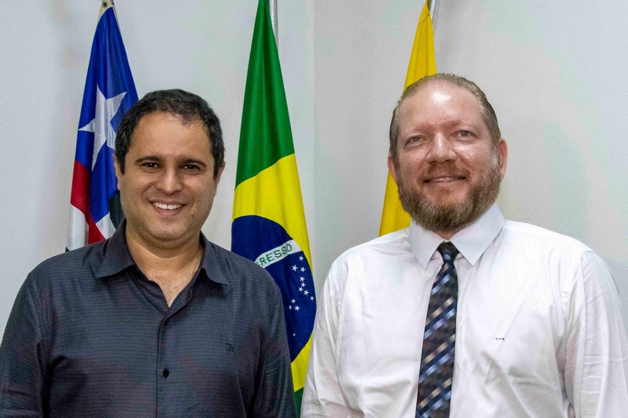 Edivaldo Holanda Junior e Othelino Neto também conversaram sobre os avanços da gestão municipal