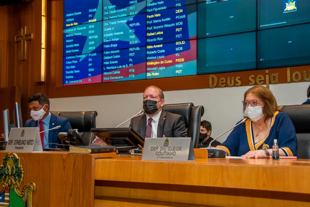Othelino destacou o retorno das sessões com todos os expedientes e afirmou que projetos voltados à pandemia terão prioridade